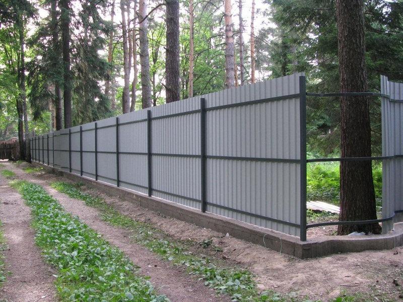 Забор с профнастила цни на ворота автоматичн